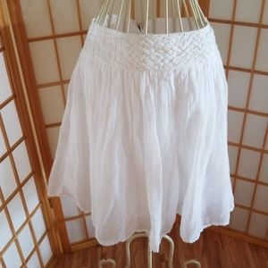 Love 21 White Flowy Mini Skirt